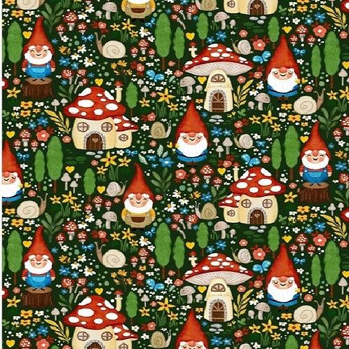 Michael Miller 100% cotton 'Gnome Sweet Gnome'