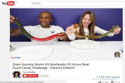 Gummy Worm YouTube 'ToysAndMe'