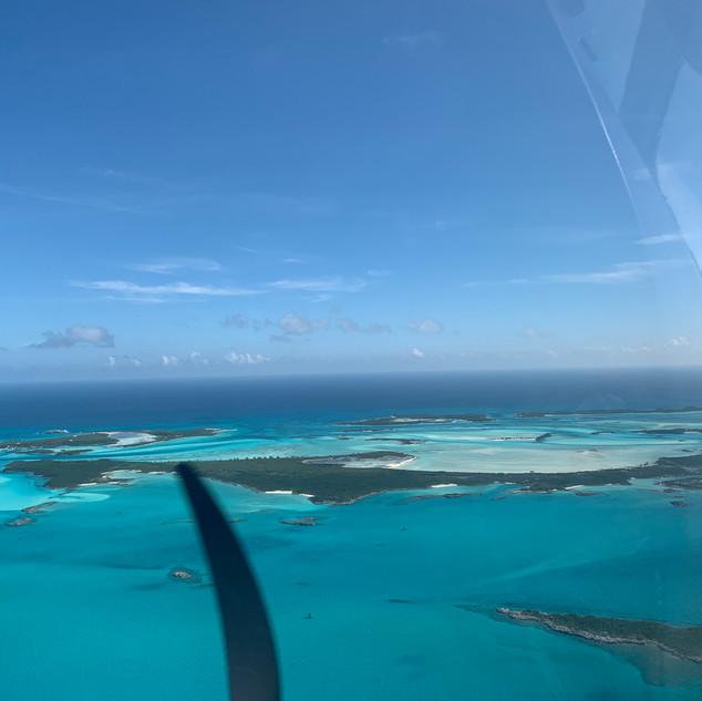 Approaching Staniel Cay, Bahamas