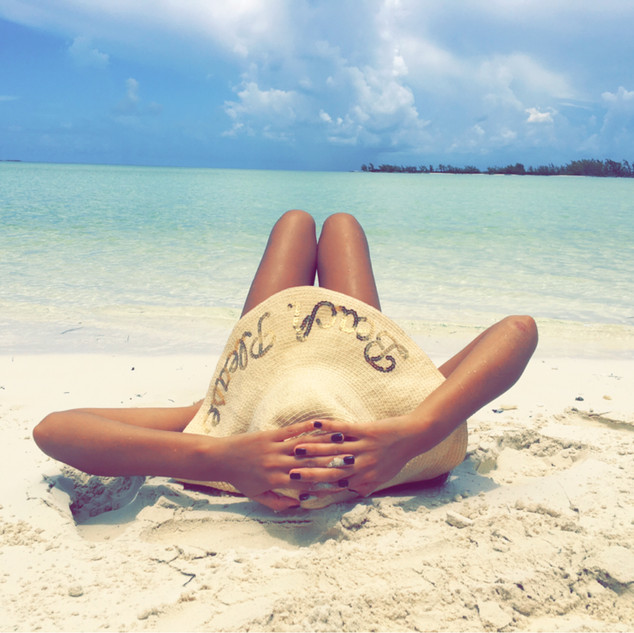 Relaxing in Great Harbour Cay, Bahamas