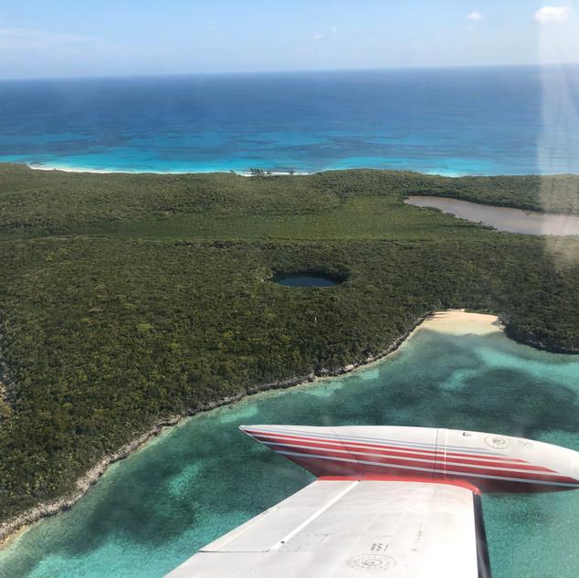 Hoffman's Cay Blue Hole near Great Harbour Cay, Bahamas