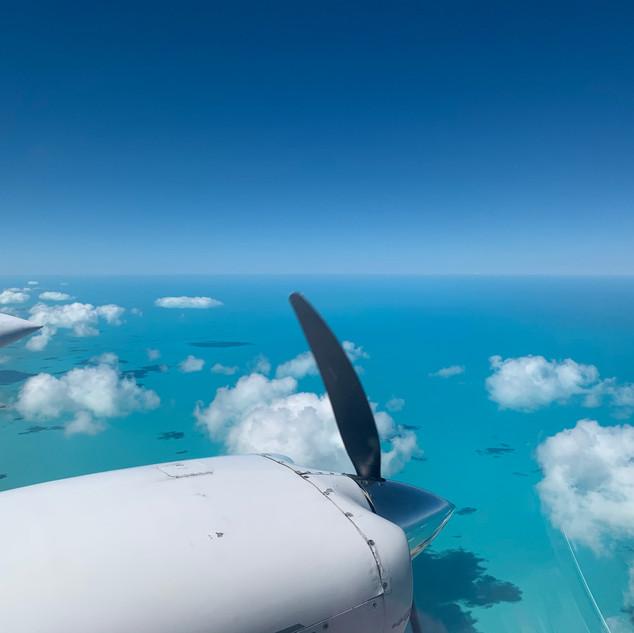 Beautiful ocean near Andros Island, Bahamas