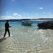 Island hopping in Staniel Cay, Bahamas