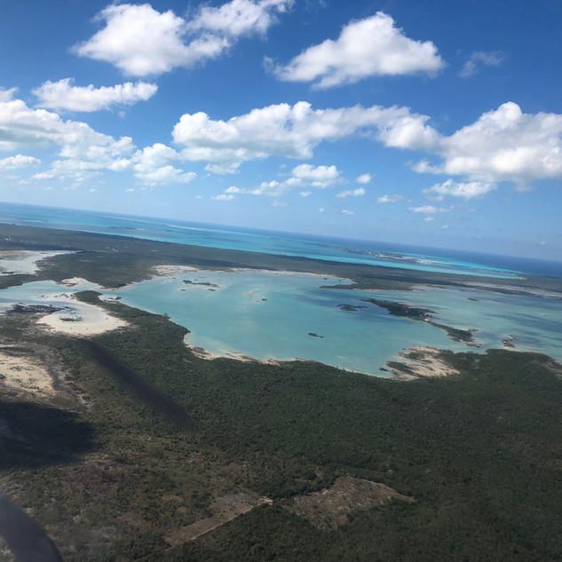 Departing Treasure Cay, Bahamas