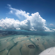 Flying over Andros Island, Bahamas