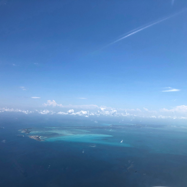 Approaching Great Harbour Cay, Bahamas