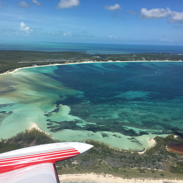 Departing Great Harbour Cay, Bahamas