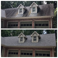 Roof Washing Before and After Smyrna GA.
