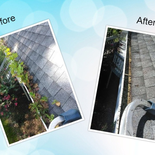 Gutter Cleaning before and after Acworth GA