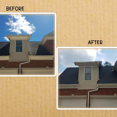 Roof Washing before and after Atlanta GA
