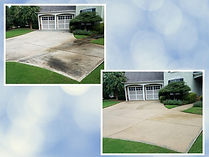 Pressure Washing Driveway before and after acworth GA