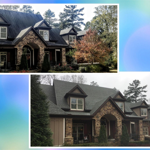 Roof Washing Alpharetta GA before and after
