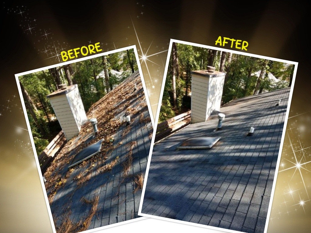gutter cleaning before and after Atlanta