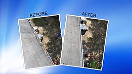 Gutter Cleaning before & after in Kennesaw Ga