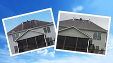 Roof cleaning before and after in Marietta GA b