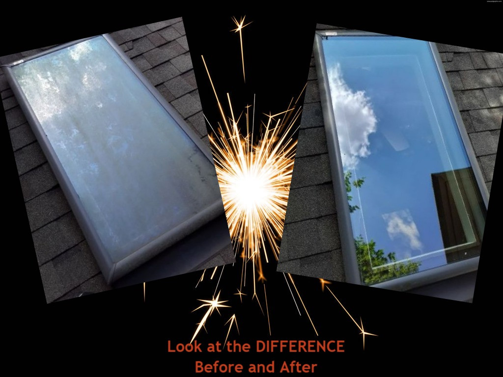 Skylight Cleaning before and after Alpharetta GA