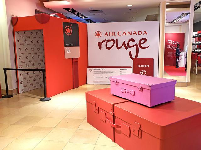 Air Canada Rouge pop up shop