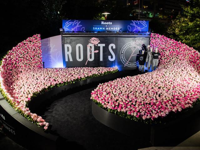Roots x Shawn Mendes pop up shop
