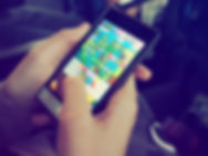 person-playing-candy-crush-on-nokia-smar