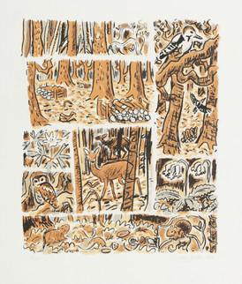 British Woodland Montage