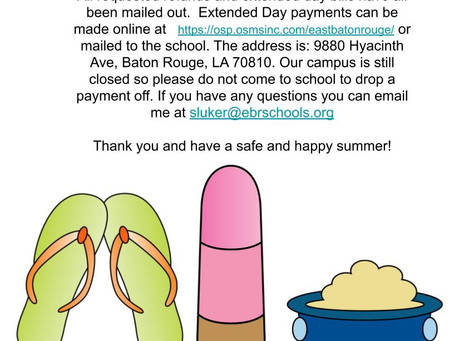 Refunds and Extended Day Bills