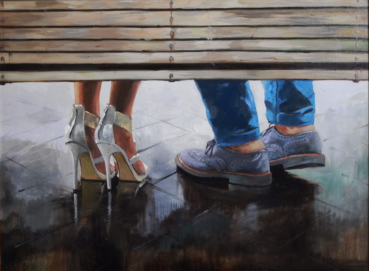 Appointment of lovers  2016 60x80 cm canvas oil