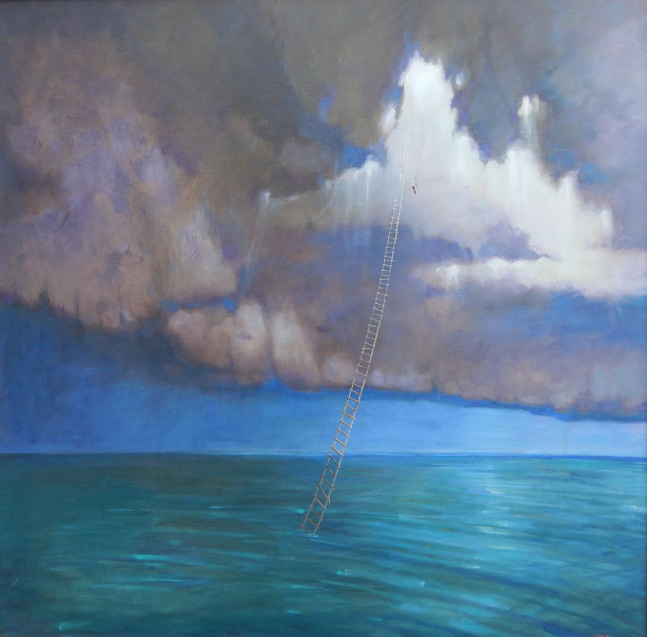 Philosophy_of_life_2009_г.,_80х80_cm.,_canvas_and_oil,effect_3_D_Artist_Alex_Che
