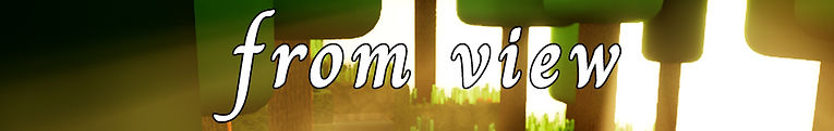 """The """"from view"""" logo over backlit trees"""