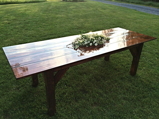 Farmhouse Tables for Rent