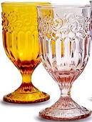 Amber and Light Pink Goblets.JPG