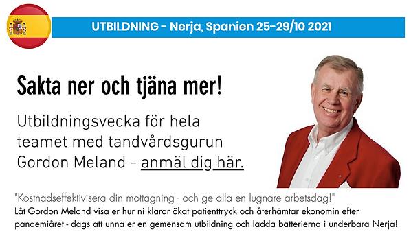 Gordon Meland utbildning tandvård Nerja