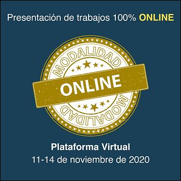 Presentación de trabajos Online Modalidad Plataforma Virtual
