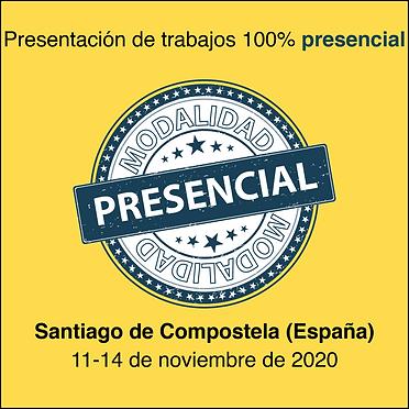 Presentación de trabajos presencial modalidad Santiago de Compostela