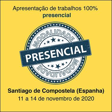 apresentação de trabalhos presencial modalidade Santiago de Compostela