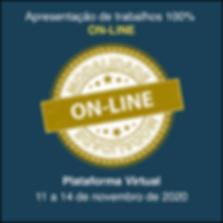 Apresentação de trabalhos On-line modalidade plataforma virtual