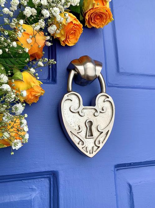 Padlock Heart   Door Knocker
