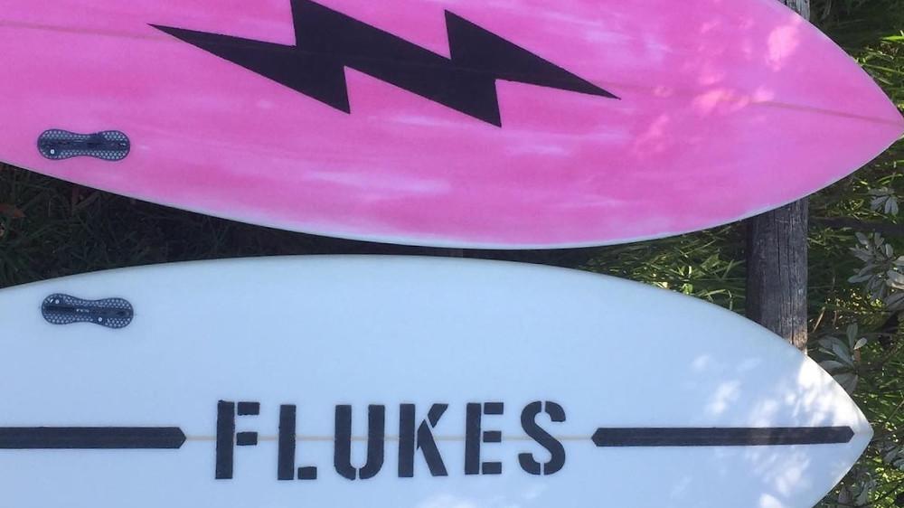 flukes kitesurfing surfboards