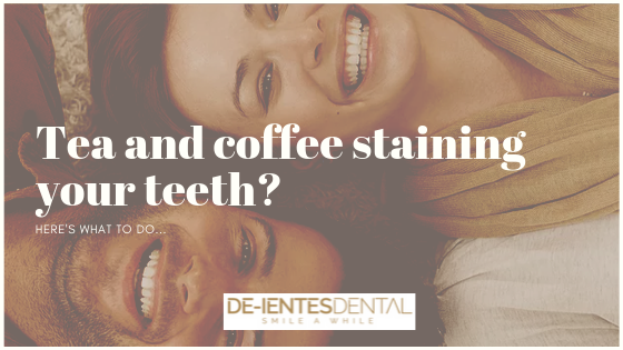 tea and coffee staining your teeth