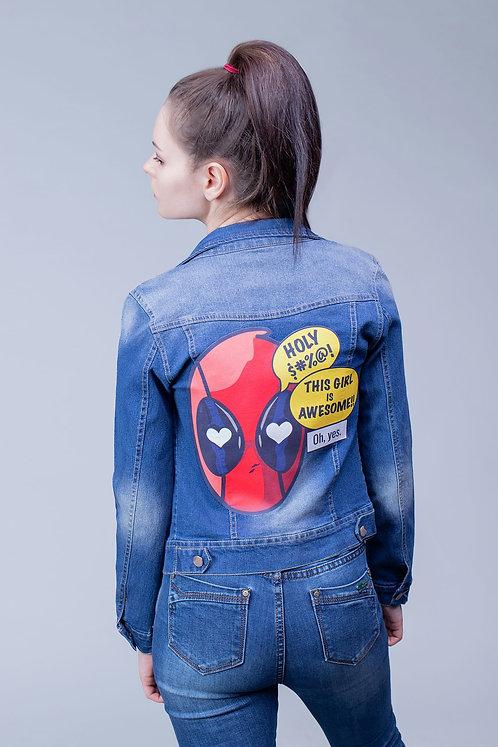 Blue denim jean jacket Deadpool | Marvel