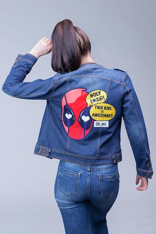 Джинсовая куртка синяя Deadpool | Marvel