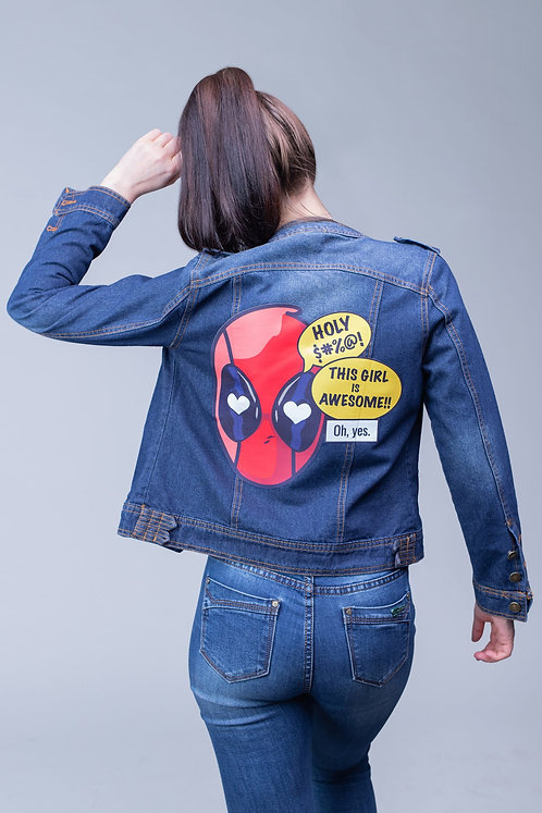 Blue denim jean jacket Deadpool | Marvel