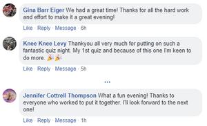 WINGS Colour Quiz Night Feedback on Facebook