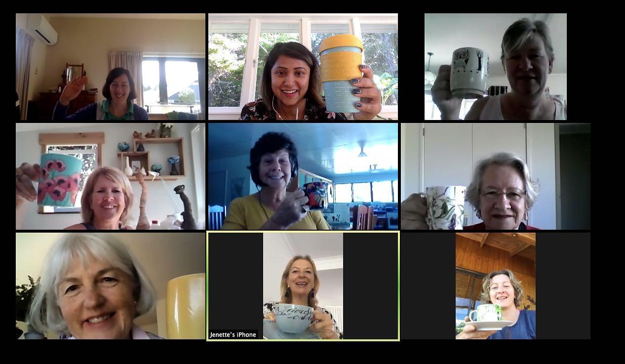 Virtual Friday Coffee Mornings during COVID lockdown