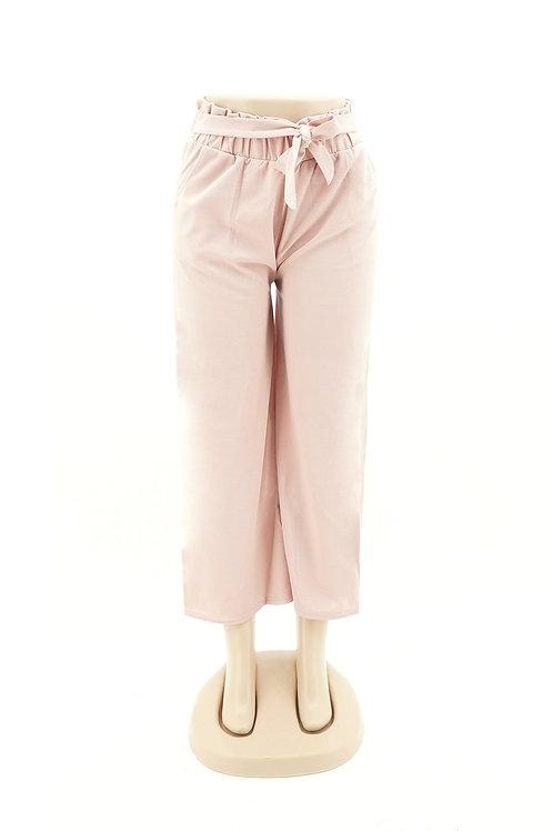 Women's Drawstring Linen Crop Pant