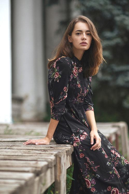 שמלת צווארון-שחור