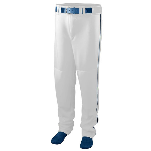 Youth SERIES PANT with PIPING White/Navy Blue 221