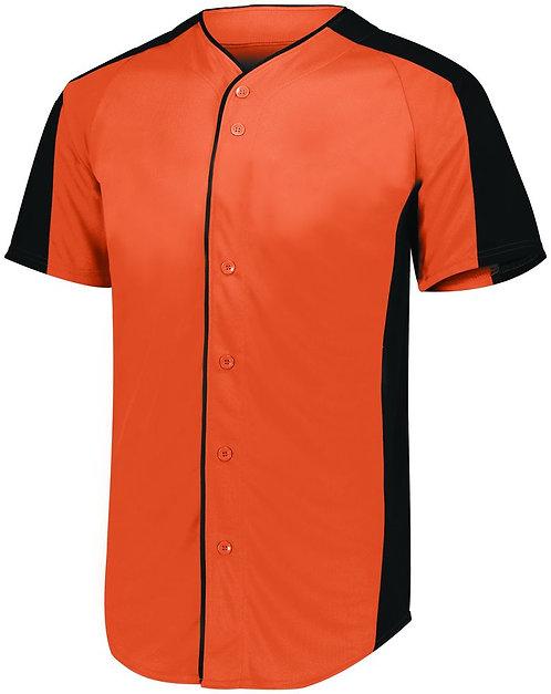 FULL BUTTON BASEBALL JERSEY Orange/Black 321