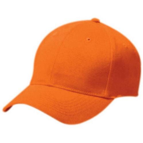 Youth COTTON TWILL SIX PANEL CAP Orange 029