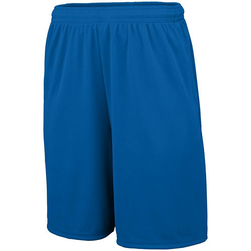 Youth TRAINING SHORTS with POCKETS Royal Blue 060