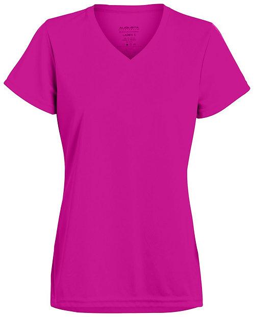 Ladies Wicking T-Shirt Power Pink 809